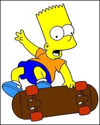 Dans ' Les Simpson, le film' dans quelle tenue Bart fait-il du skateboard ?