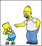 Que fait Homer lorsqu'il est en colère contre son fils ?