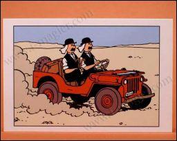 Autre image 'piquée' des albums de Tintin : la jeep rouge de :