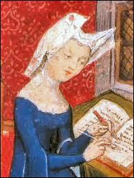 Poétesse d'origine italienne, elle prendra la défense des femmes à travers ses écrits, et revendiquera le droit à l'instruction.