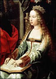 Surnommée '... ... ... . . la Catholique', elle portait une armure et commandait ses troupes pendant les batailles.