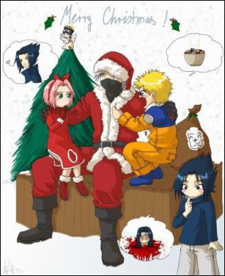 Qui est déguisé en Père Noël ici ?
