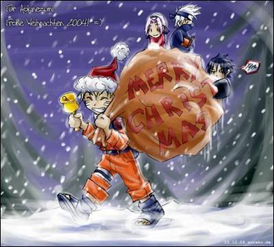 Qui tient la hotte du Père Noël ?