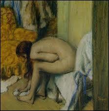 Qui a peint 'Femme nue s'essuyant le pied' ?