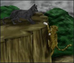 Que s'est-il passé lorsque Feuille de Lune a failli tomber d'une falaise (Tome 4) ?