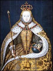 Fille d'Henri VIII et d'Anne Boleyn, elle fit décapiter Marie Stuart et sortit victorieuse de 'l'Invincible Armada'. . Elle fut surnommée 'la reine vierge'.