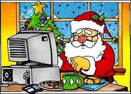 Complétez cette phrase : depuis quelques années le Père Noël s'est mis ... pour répondre plus rapidement au courrier des enfants du monde entier.