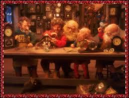 Qui aident le Père Noël à lire le courrier et à préparer les tournées de cadeaux ?