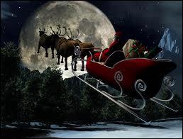 Quels animaux tirent le traîneau du Père Noël (depuis 1821) ?