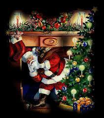 Comment le Père Noël apporte-t-il les cadeaux sous le sapin du salon ?