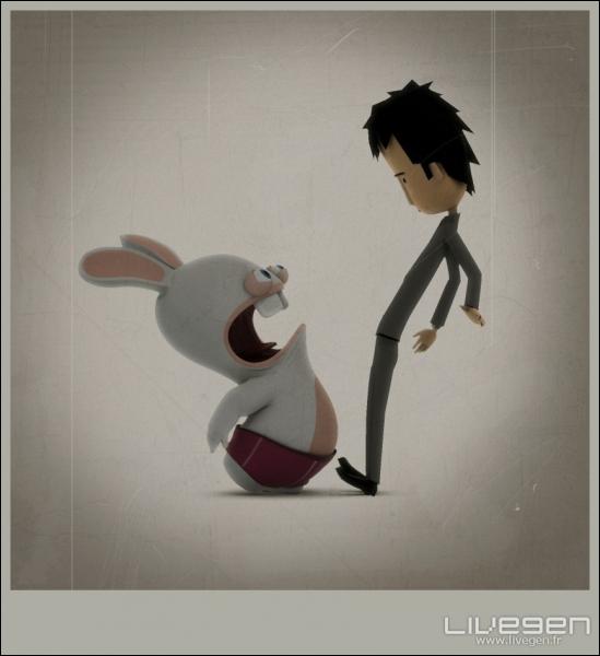Trio final : un humain a-t-il déjà vu un lapin crétin ?