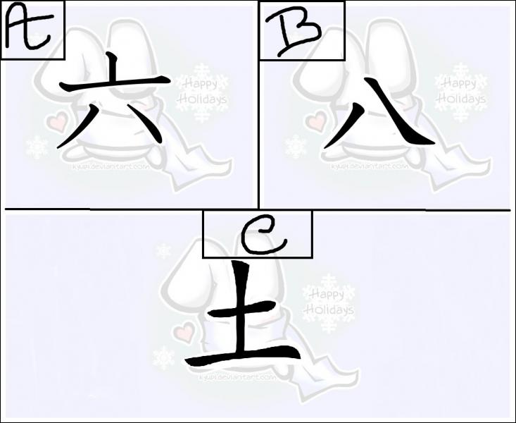 Lequel de ces kanjis se prononce 'hashi' en lecture onyomi ?