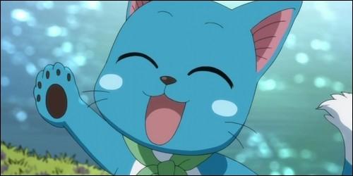 Où est la marque de Fairy Tail que porte Happy ?