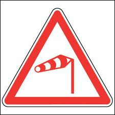 Ce panneau annonce que le vent souffle de la droite vers la gauche :