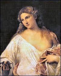 Peintre de l'école vénitienne, je suis considéré comme l'un des plus grands portraitistes de mon époque (1490-1576). J'ai peint cette 'Flora' .
