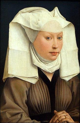 Peintre flamand de la Renaissance (1400-1464), influencé par Jan van Eyck puis Fra Angelico, j'ai peint ce 'Portrait de jeune femme'.