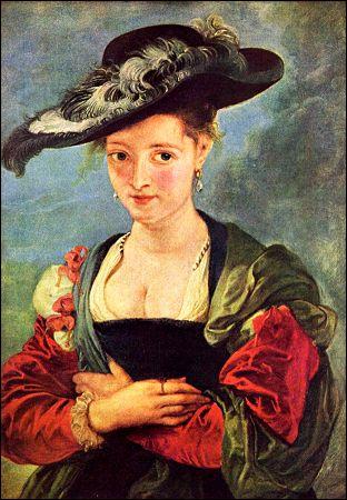 Peintre baroque flamand, 'd'instinct plus porté aux grand travaux qu'aux petites curiosités', j'ai néanmoins peint de nombreux portraits, dont celui de ma femme Hélène Fourment.