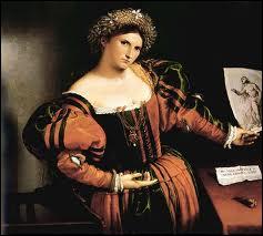 Né à Venise (1480 – 1556), je fus un grand portraitiste, toutefois éclipsé par la renommée du Titien. J'ai peint ce 'Portrait de Lucrezia Valier' .