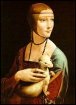 Homme d'esprit universel, à la fois artiste, scientifique, inventeur, musicien, poète, philosophe et écrivain de la Renaissance, (1452-1519) j'ai peint cette gracieuse 'Dame à l'hermine''.
