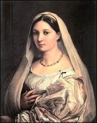 Peintre et architecte italien (1483-1520), d'après Casanova 'aucun peintre ne m'a surpassé dans la beauté des figures'. J'ai peint 'La Dame au Voile'.
