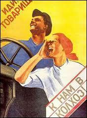 Staline a mis en place un système de collectivisation des terres. Lequel de ces termes NE DESIGNE PAS une collectivité agricole soviétique ?