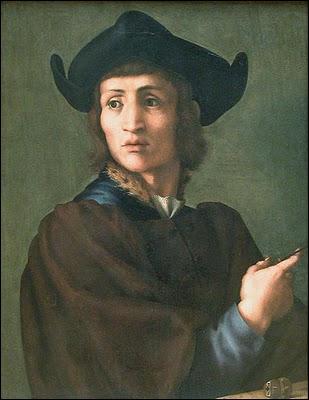 Peintre de l'école florentine maniériste (1494-1547) il a travaillé dans les ateliers d'Andrea del Sarto, puis de Léonard de Vinci et de Pierro di Cosimo. Il a peint ce 'Portrait d'un graveur'.