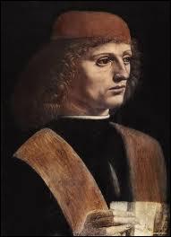 Artiste et savant italien le plus célèbre de la Renaissance (1452-1519), il a peint ce 'Portrait d'un musicien'.