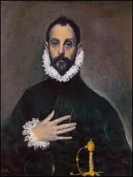 Considéré comme le peintre fondateur de l'École espagnole, son œuvre est la synthèse du maniérisme renaissant et de l'art byzantin. Il a peint ce 'Chevalier à la main sur la poitrine'.