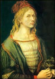 Issu d'une famille d'orfèvres de Nuremberg, il est aussi mathématicien et surtout un très grand graveur (1471-1528). Voici un de ses autoportraits.