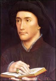 Peintre officiel de la Cour de Bourgogne à Bruxelles (1400 ? -1464), il a peint ce 'Portrait d'un homme tenant un livre'.