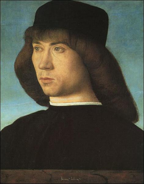 Précurseur de l'école vénitienne, il incarne avec un talent extraordinaire l'esprit de la Renaissance italienne. Il a peint ce 'Portrait de jeune homme'.