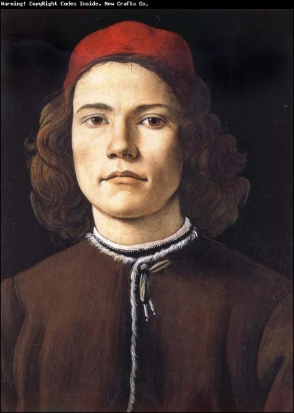 L'un des peintres les plus importants de la Renaissance italienne et de l'histoire de l'art, né à Florence (1445 ? -1510), élève de Fra Filippo Lippi, il a peint ce 'Portrait de jeune homme'.