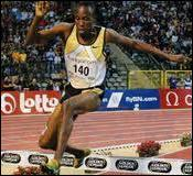 Qui est recordman du monde du 3. 000m Steeple en 7 : 53. 63 ?