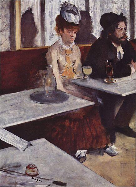 Qui a peint' l'absinthe ' ?