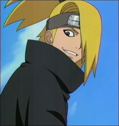 Membre de l'Akatsuki, spécialiste des explosifs avec des animaux en argile potelés de sa main. Ce jeune androgyne se nomme...