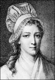 Femme engagée, scandalisée par Marat, qu'elle surnommait 'le massacreur de septembre', elle le poignarda dans sa baignoire. Elle mourut guillotinée.