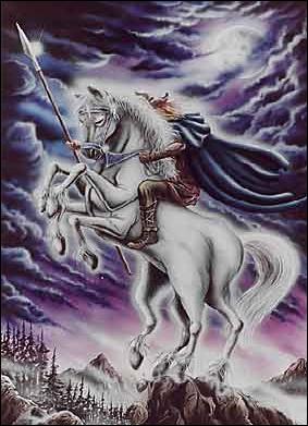 Comment s'appelle le cheval à 8 pattes d'Odin ?
