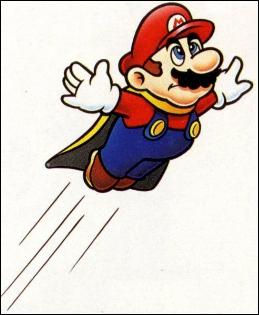 Mario est incapable de voler (quelle que soit la manière) dans...
