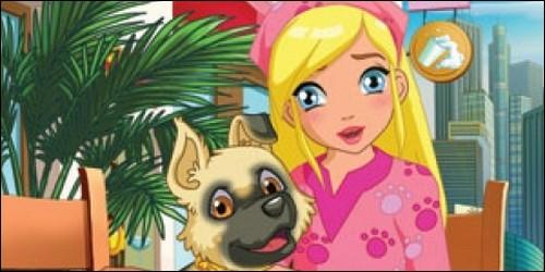 """Dans """"Puppy in my pocket"""", comment se nomme le chien de Flo ?"""