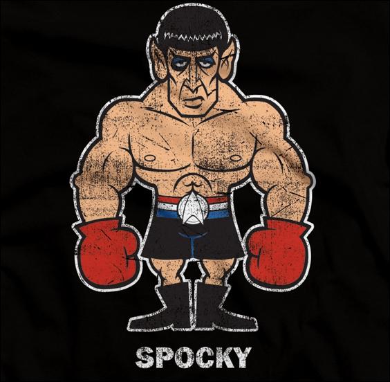 Spocky Croisement entre le boxuer Rocky et le vulcain Spock. En quelle année est sorti le premeir Rocky au cinéma ?