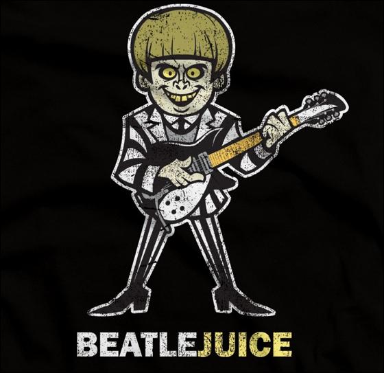Beatlejuice. Croisement entre un membre du groupe The Beatles et Beetlejuice. The Beatles était un groupe formé de John Lennon, Paul McCartney, Ringo Starr et de...