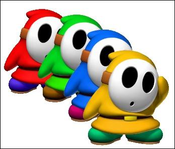 Vrai ou faux ? Maskass existe en plusieurs coloris dans Mario Kart DS ? (Plusieurs = Au moins deux)