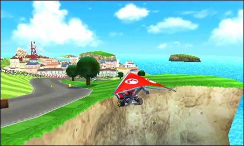Ce circuit de Mario Kart 7 est différent des autres car ...