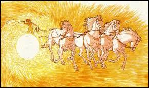 Quel dieu ( ou déesse ) est représenté(e) par le char du Soleil ?