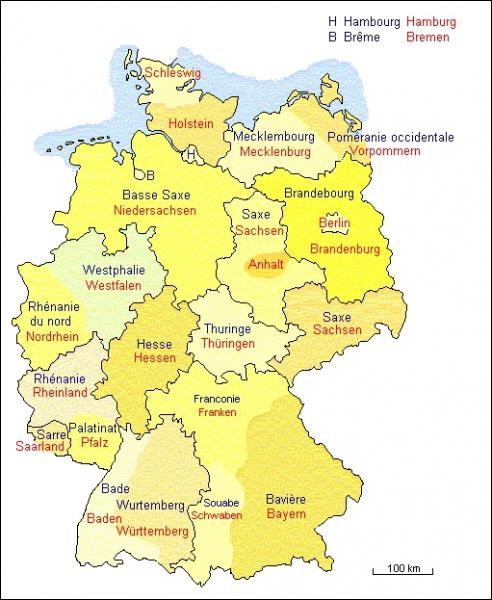 L'Allemagne est entourée par neuf autres pays. Parmi les suivants, lequel n'a pas de frontière avec elle ?