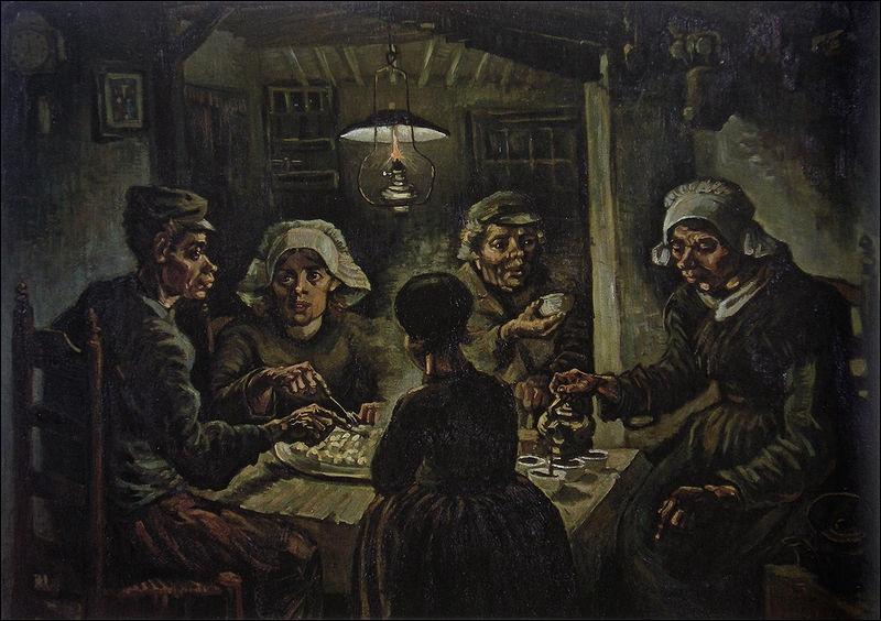 Qui a peint 'Les mangeurs de pommes de terre' ?