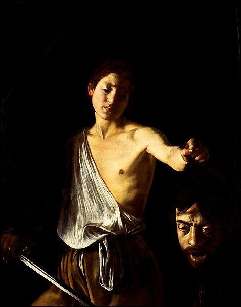 Qui a peint cette toile intitulée 'David et Goliath' ?