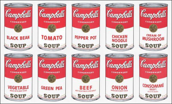 Combien y a-t-il de boîtes Campbell's Soup ?