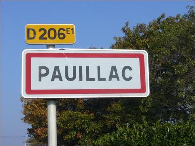 Dans quel département se situe Pauillac ?