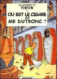 Quelle chanteuse française surveille Tintin dans la recherche du cigare de Jacques Dutronc ?